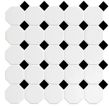 Alameda White and black octagons