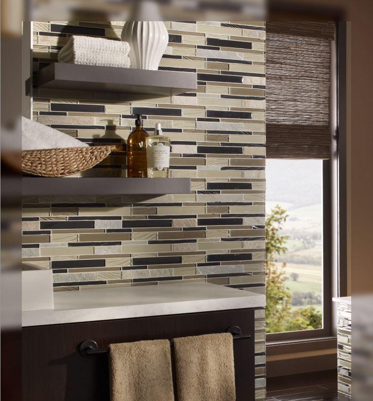 Random Glass Mosaic tiles