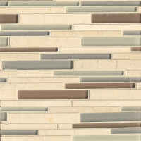 Glass linear Mosaics stone