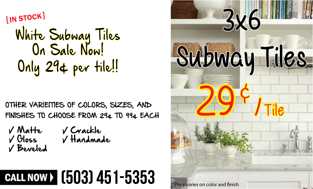 Subway Tile Sale