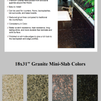 Granite 18x31 Mini Slabs
