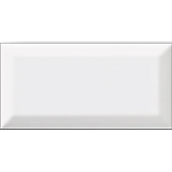 Biscuit Gloss Beveled 3x6 Tile