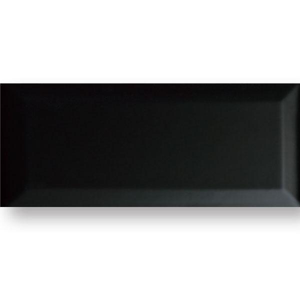 Black Gloss Beveled 4x10 Tile