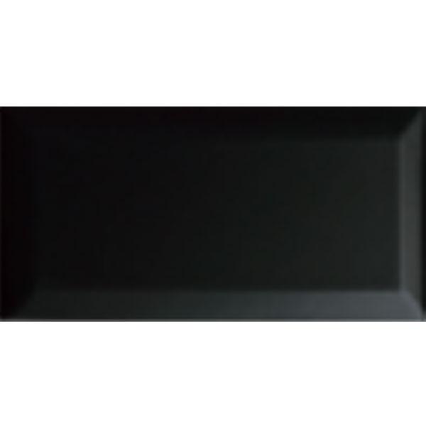 Black Gloss Beveled 3x6 Tile