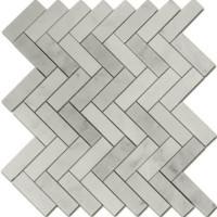 Carrara Marble Herringbone 1x3 Honed