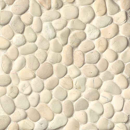 Creekside Bali White Pebbles Unglazed DECHEMUP-BW_1000